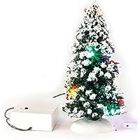 VBS LED Tannenbaum-Deko Miniatur Winter-Landschaft Weihnachten Wechsellicht