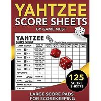 "Image for Yahtzee Score Sheets: 125 Large Score Pads for Scorekeeping | 8.5"" x 11"" Yahtzee Score Cards"