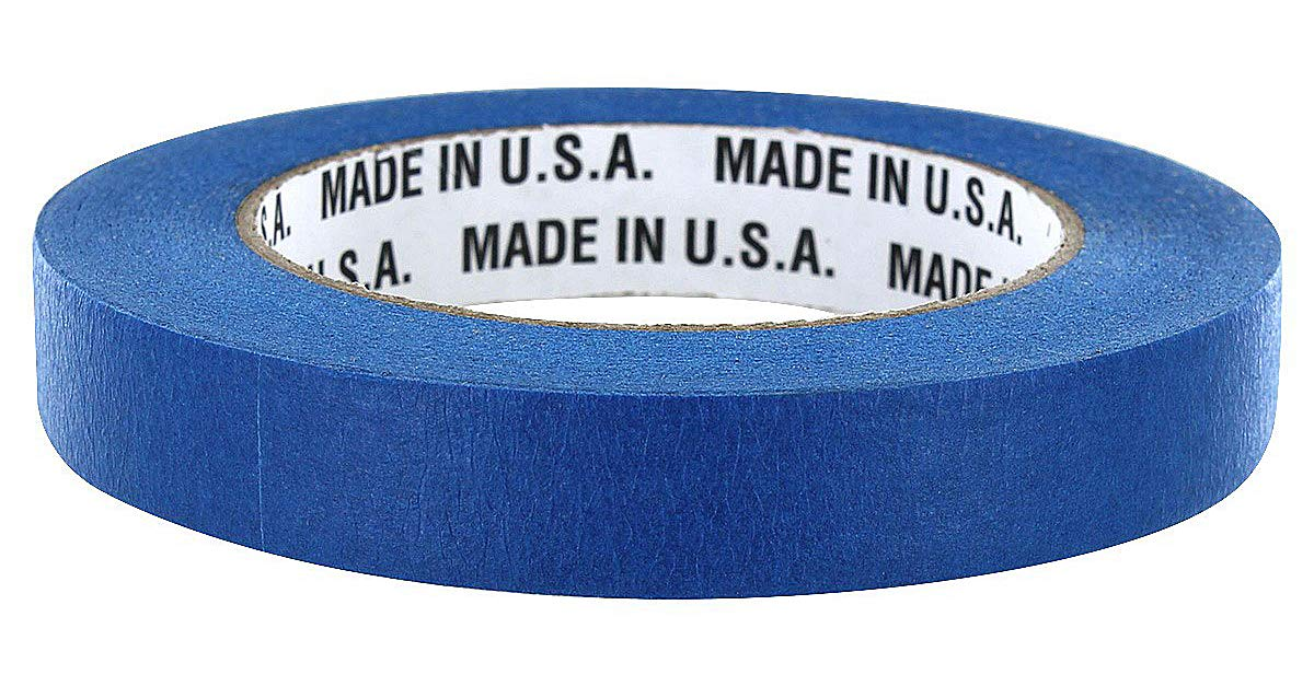 Merco M187 Blue Painters Masking Tape - Full Case - 24mm x 55M - 21 Day Clean Release - 36 Rolls by Merco Tape