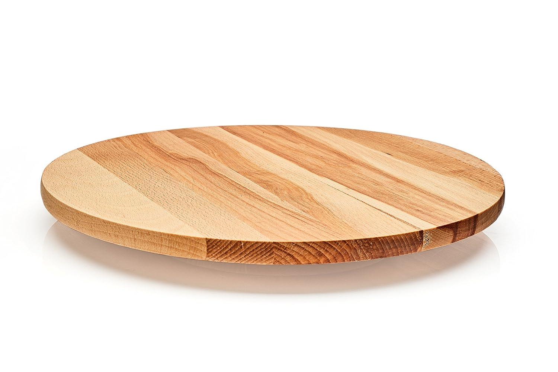 Lazy Susan - Bandeja giratoria de madera. Madera de haya maciza. Utilizar para servir queso, para aperitivos, aperitivos., madera, Diameter 40 cm en Amazon. ...