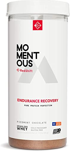 Endurance Recovery Grass-Fed Whey Protein Isolate, 14 Servings Per Jar for Endurance Recovery Post-Workout Protien Powder, Gluten-Free, NSF Certified, Non GMO – Momentous Chocolate