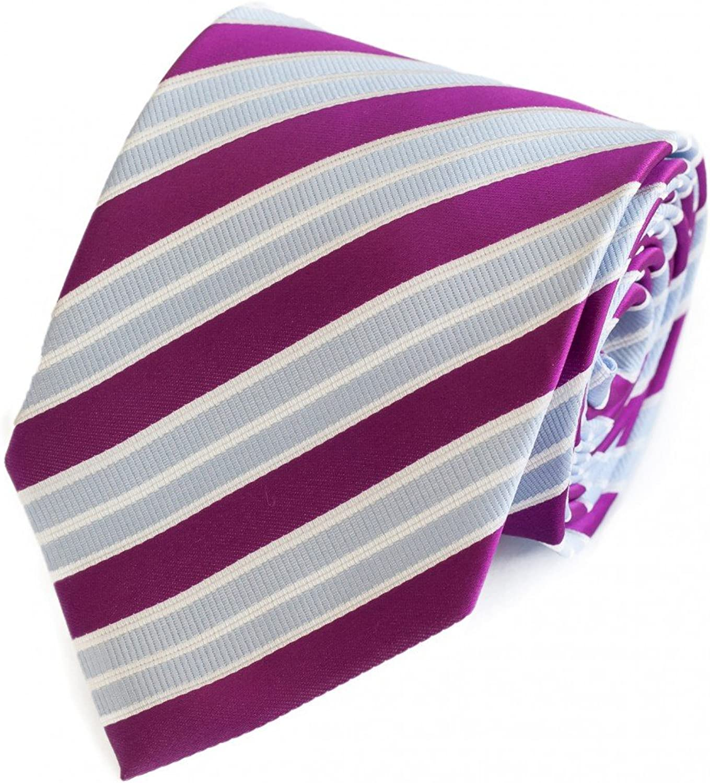 Fabio Farini gestreifte Krawatte in 8cm Breite in verschiedenen Farben f/ür B/üro Verein Hochzeit Weihnachten