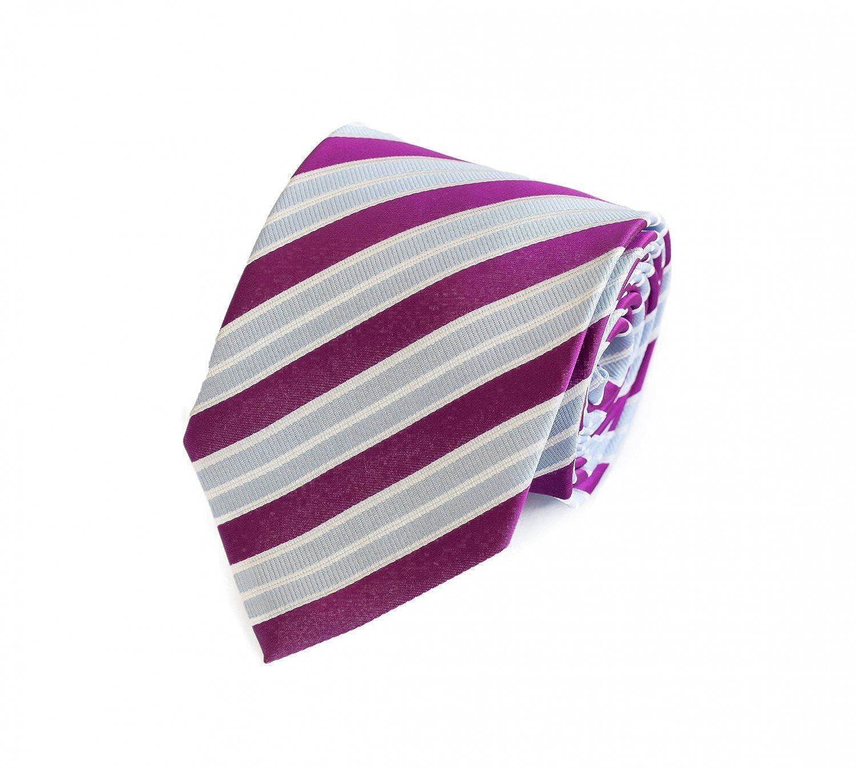 Corbata de Fabio Farini en morado y rayas de color azul claro ...