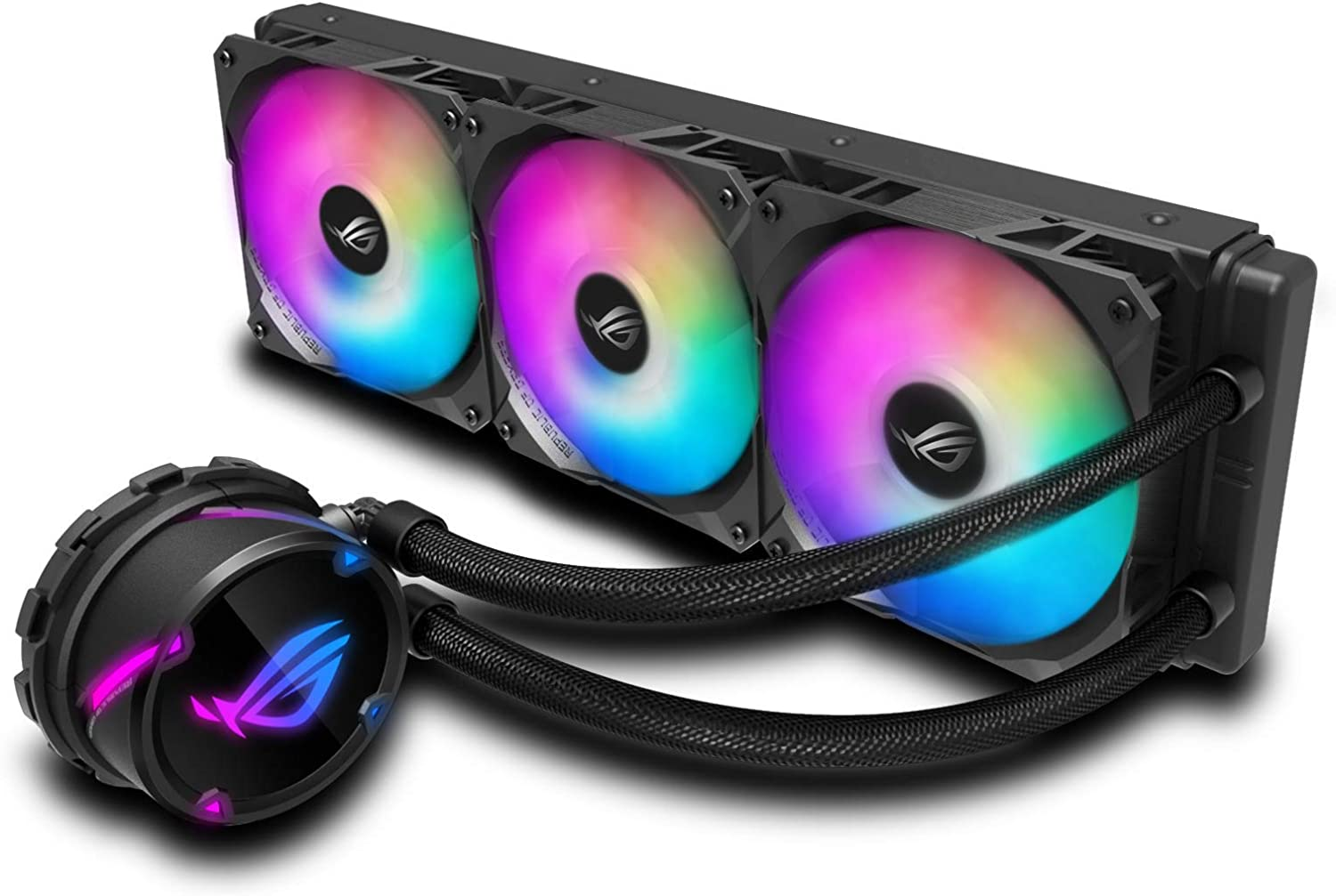 ROG Strix LC 360 RGB, Cooler CPU All-in-one ROG, with addressable RGB Lighting, Aura sync, NCVM Pump Coating and ROG Radiator Fan