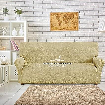 Petti, Artigiani Italiani - Funda artesanal italiana, para sofá, elástica, tejido Jacquard, producto 100% de fabricación italiana, ideal para sillones ...