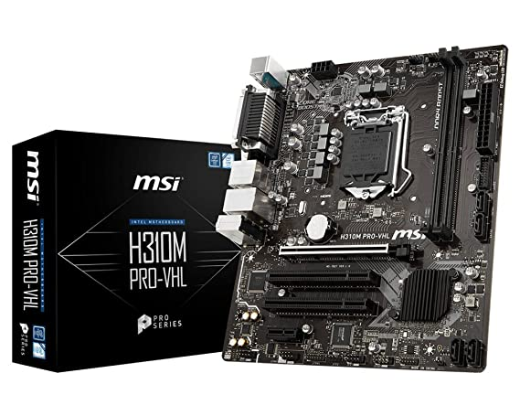 MSI H310M-PRO-VHL LGA 1151 Socket Intel Motherboard Motherboards at amazon