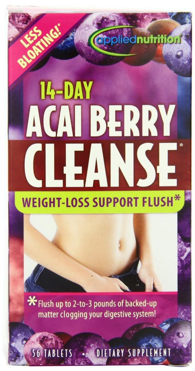 Applied Nutrition 14-Day Acai Berry Cleanse Tablets 56 Tablets Pack of 2