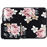MOSISO Water Repellent Neoprene Sleeve Bag Cover with Small Case Multicoloured Black Rose 13-13.3 Inch
