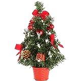 KAYI Mini albero di Natale verde artificiale Albero di Natale coperto interno Decorazione di natale interno/esterno Albero di Natale Albero di Natale di Natale.