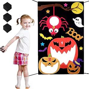 Legendog Halloween Bean Bag Toss Game with 3 Bean Bags,Fashion Halloween Toss Games for Adults and Kids, Halloween Party Decoration