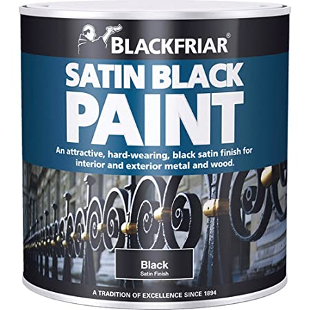 blackfriar 1 litre wood and metal satin black paint black exterior