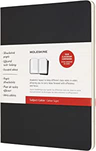 """Moleskine Cahier Journal, Soft Cover, XL (7.5"""" x 9.5"""") Subject Cahier, Black/Kraft Brown, 160 Pages (Set of 2)"""
