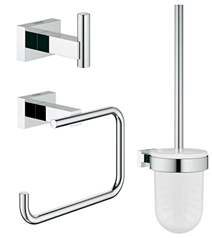 Extrem GROHE 40757001 | Essentials Cube 3-in-1 Bathroom Set: Amazon.co.uk IZ87