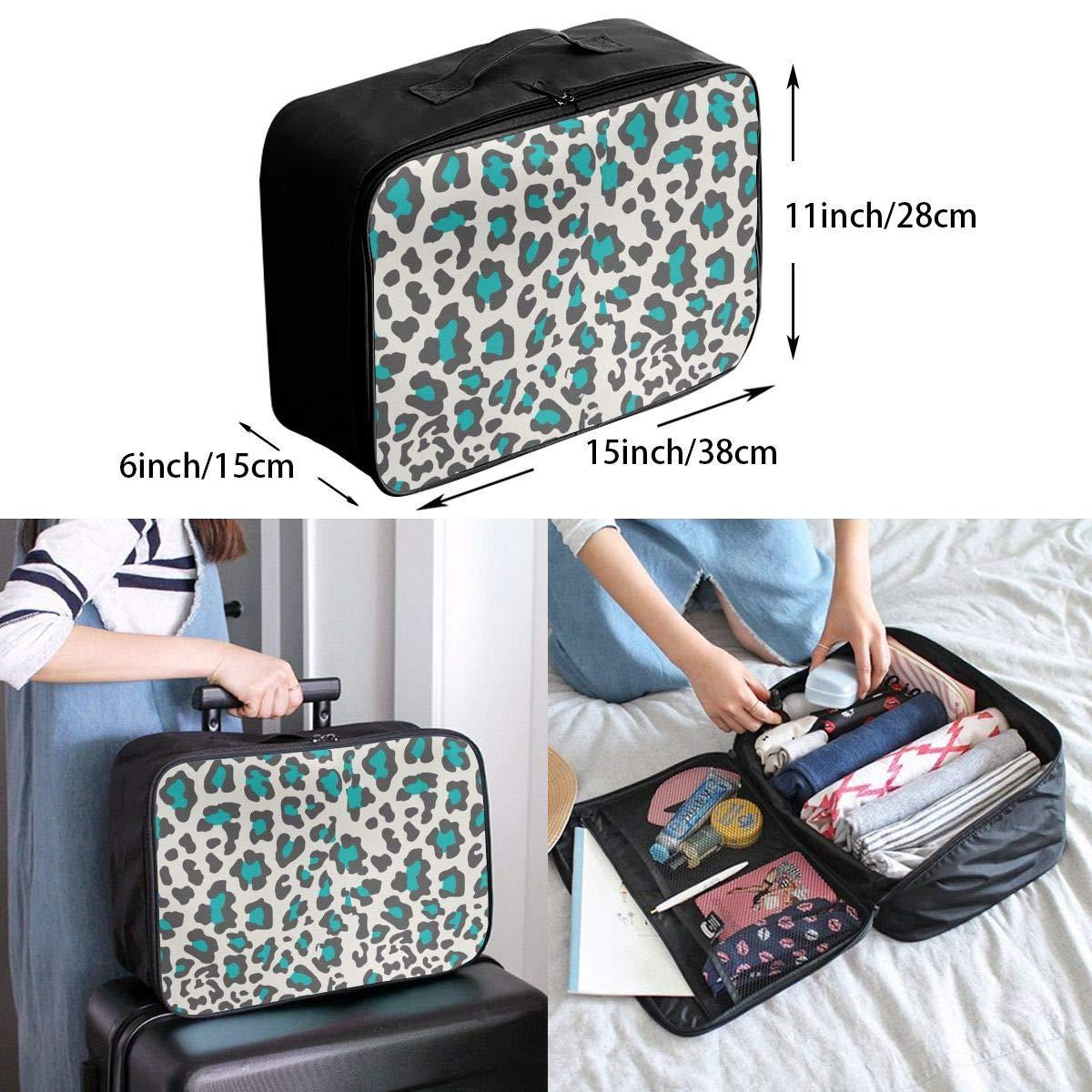 YINLAN Foldable Duffel Travel Bag Lightweight Large Capacity Portable Luggage Bag Waterproof Storage Tote Bag Cheetah Lignt Pink Leopard