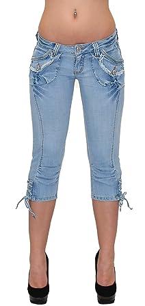 ESRA Caprihose Damen Capri Hose Damen Bermuda Shorts Kurze Jeans Hose Capri  H11  Amazon.de  Bekleidung 5326a875ec
