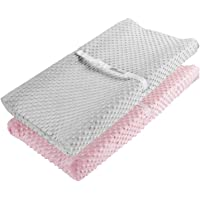 AceMommy Changing Pad Cover, Ultra Soft Minky Dots Plush Changing Table Covers Breathable Changing Table Sheets Wipeable…