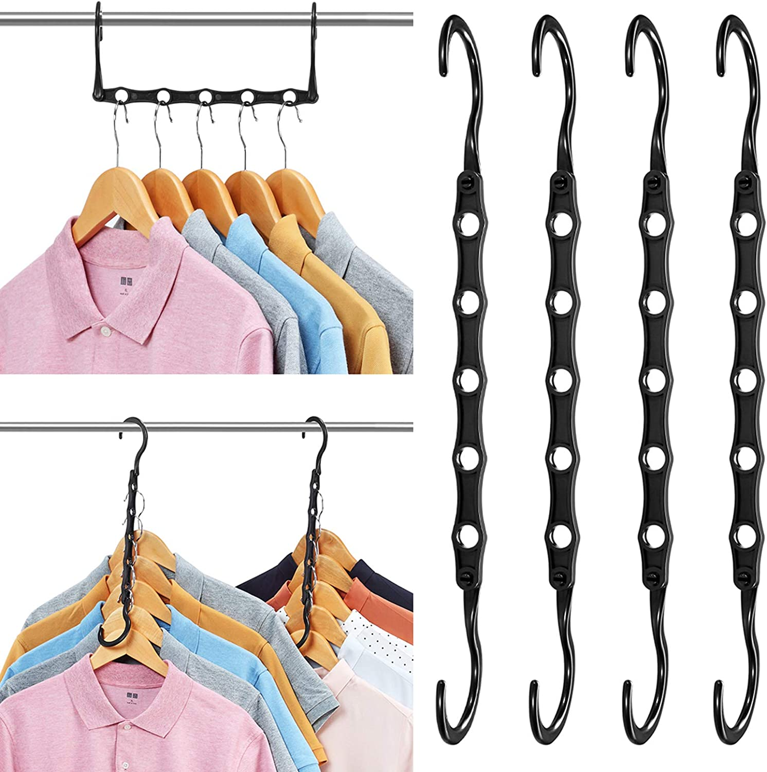 Spring new work one after another Limited time for free shipping AMKUFO 20 Pack Magic Hangers Closet Saving S Space