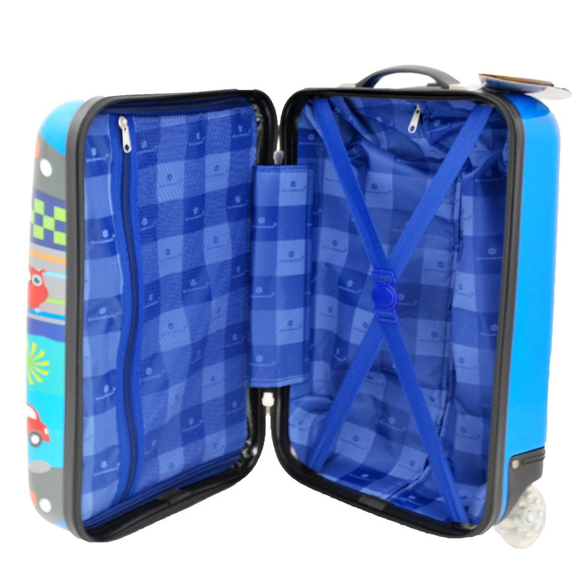 Valise cabine 50 cm Bleu Enfant Snowball