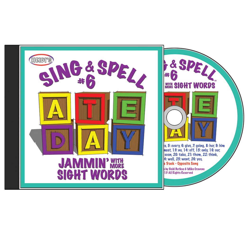 Sing & Spell the Sight Words: Volume 6 - Jammin' With More Sight Words CD by HeidiSongs