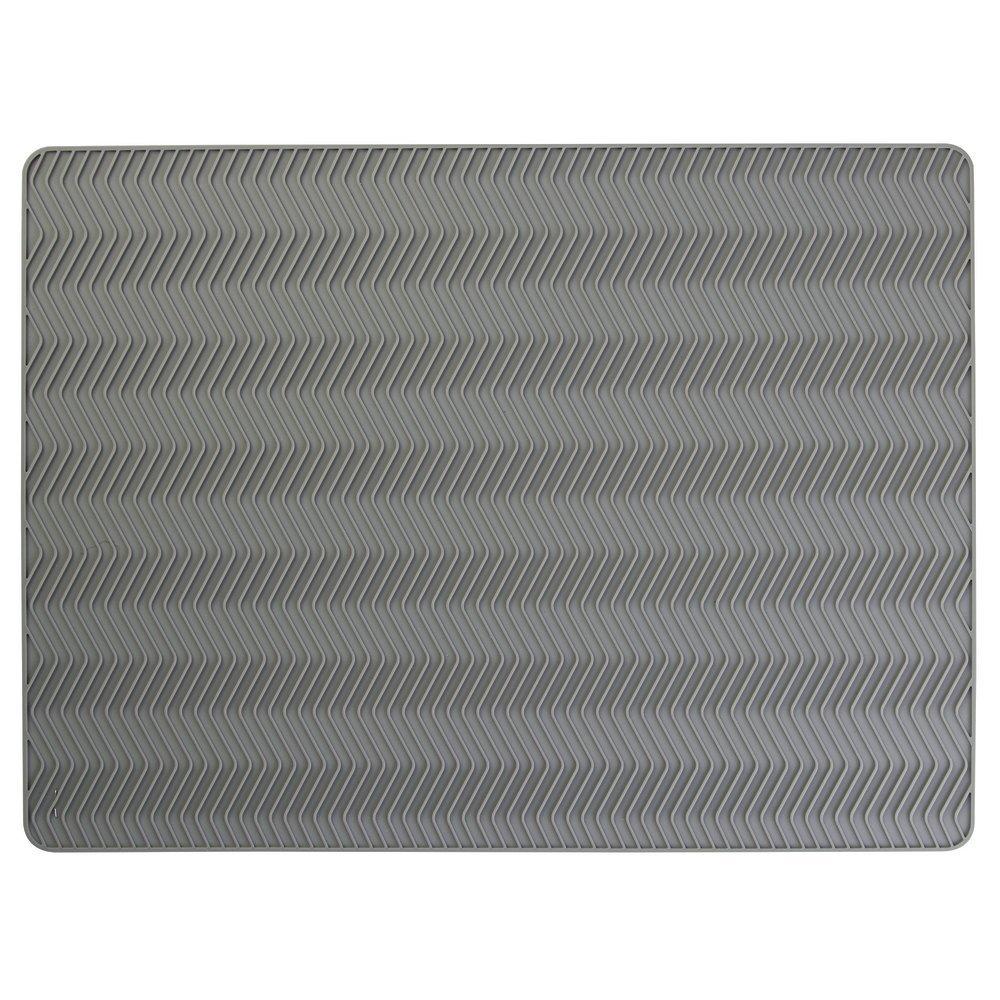 tappetino per lavandino mDesign tappetino sgocciolatoio in silicone per la cucina colore: grigio medio lavabile in lavastoviglie adatto anche come sottopentola