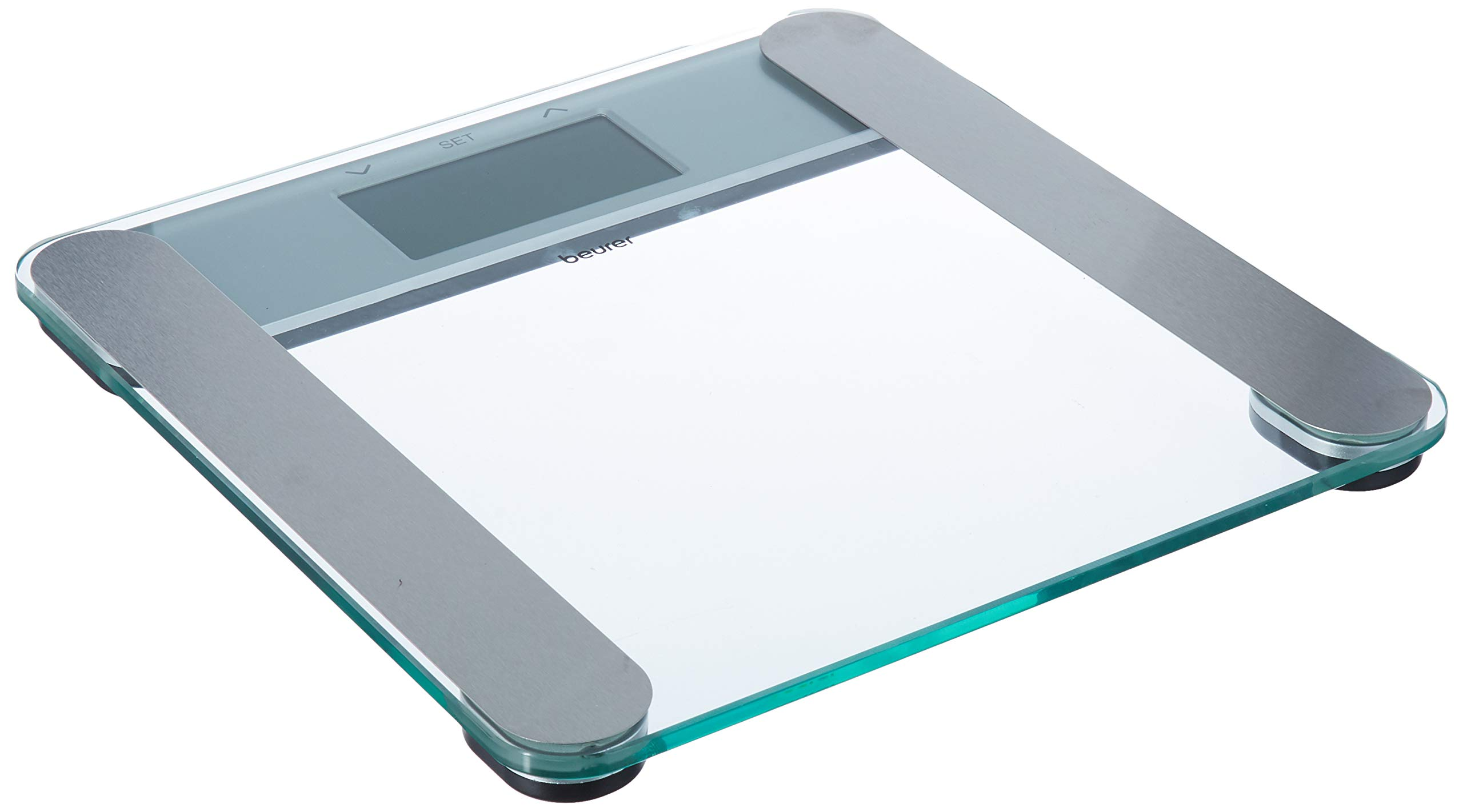 Beurer Body Fat Analyzer Scale BMI, Multi-User & Recognition, Digital Weight Scale, XL LCD Illuminated Display, BF221, Silver by Beurer