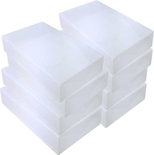 DynaSun 8X PP384 Cajas de Almacenaje para Botas Apilable Plegable Contenedor Organizador Transparente para Hombres Damas y Señoras: Amazon.es: Juguetes y juegos