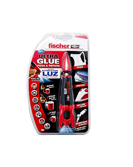 FISCHER 539084 Adhesivo Ultra Glue (Envase 4 gr), Trasparente