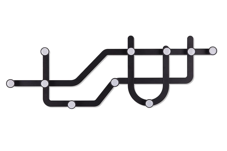 Umbra 318187-040 Subway - Perchero múltiple, Color Negro