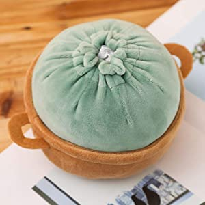 Plush Toy Stuffed Doll Chinese Food Steamed-8in/20cm Stuffed Bun Pillow Cushion Creative Play House Baby Birthday Gift 8in/20cm Green