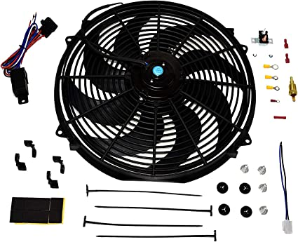 """14/"""" REVERSIBLE ELECTRIC 12V UNIVERSAL AUTO COOLING RADIATOR FAN"""