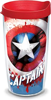 Tervis 1323285 Captain Marvel Insulated Tumbler with Wrap and Lid Tritan Clear 16 oz