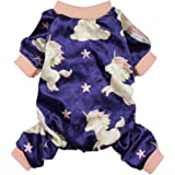 Fitwarm Fairy Unicorn Dog Pajamas Pet Clothes Jumpsuit PJS Apparel Soft Velvet Purple