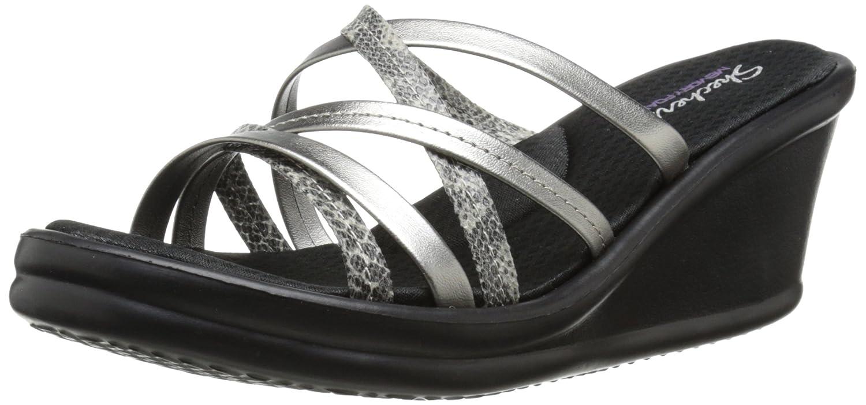 Skechers Cali Womens Rumblers-Social Butterfly Wedge Sandal