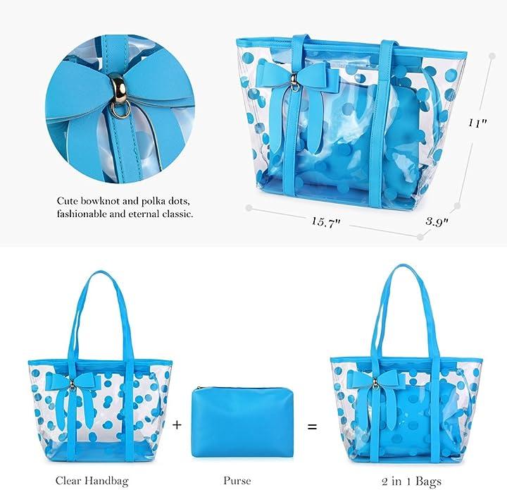 Amazon.com: Poder de la mujer transparente bolsa Bolsas ...