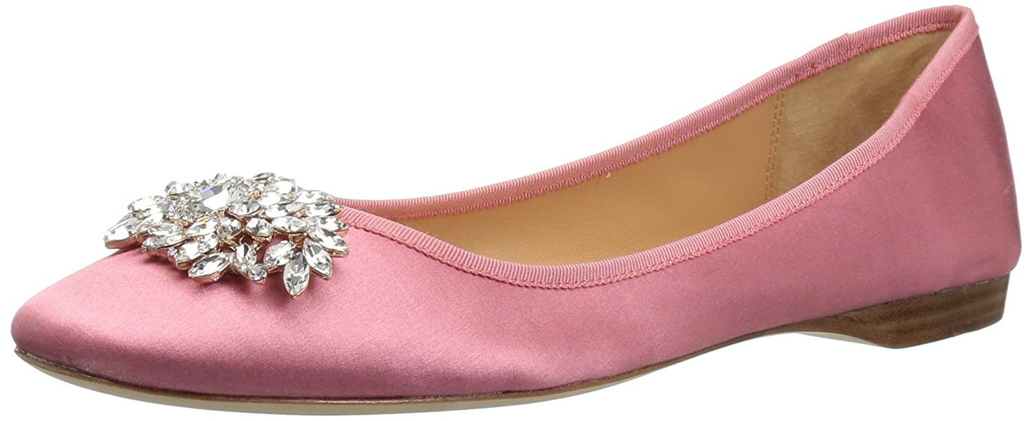 Badgley Mischka Women's Pippa Ballet Flat B0782191FG 6 M US|Rose Satin