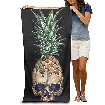 Meius Angry - Toalla de Playa para Piscina, Diseño de Calavera, Color Negro, Tamaño único, 80 cm x 130 cm: Amazon.es: Hogar