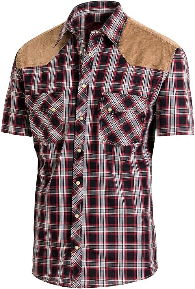 STARS & STRIPES - Camisa - Hombre Burdeos M: Amazon.es: Ropa y accesorios