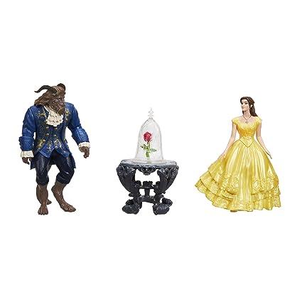 Amazon Com Disney Beauty And The Beast Enchanted Rose Scene Toys