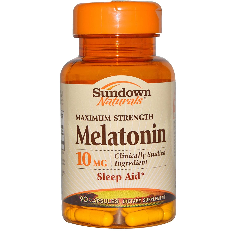 Amazon.com: Rexall Sundown Naturals, Maximum Strength Melatonin, 10 mg, 90 Capsules - 2pc: Health & Personal Care
