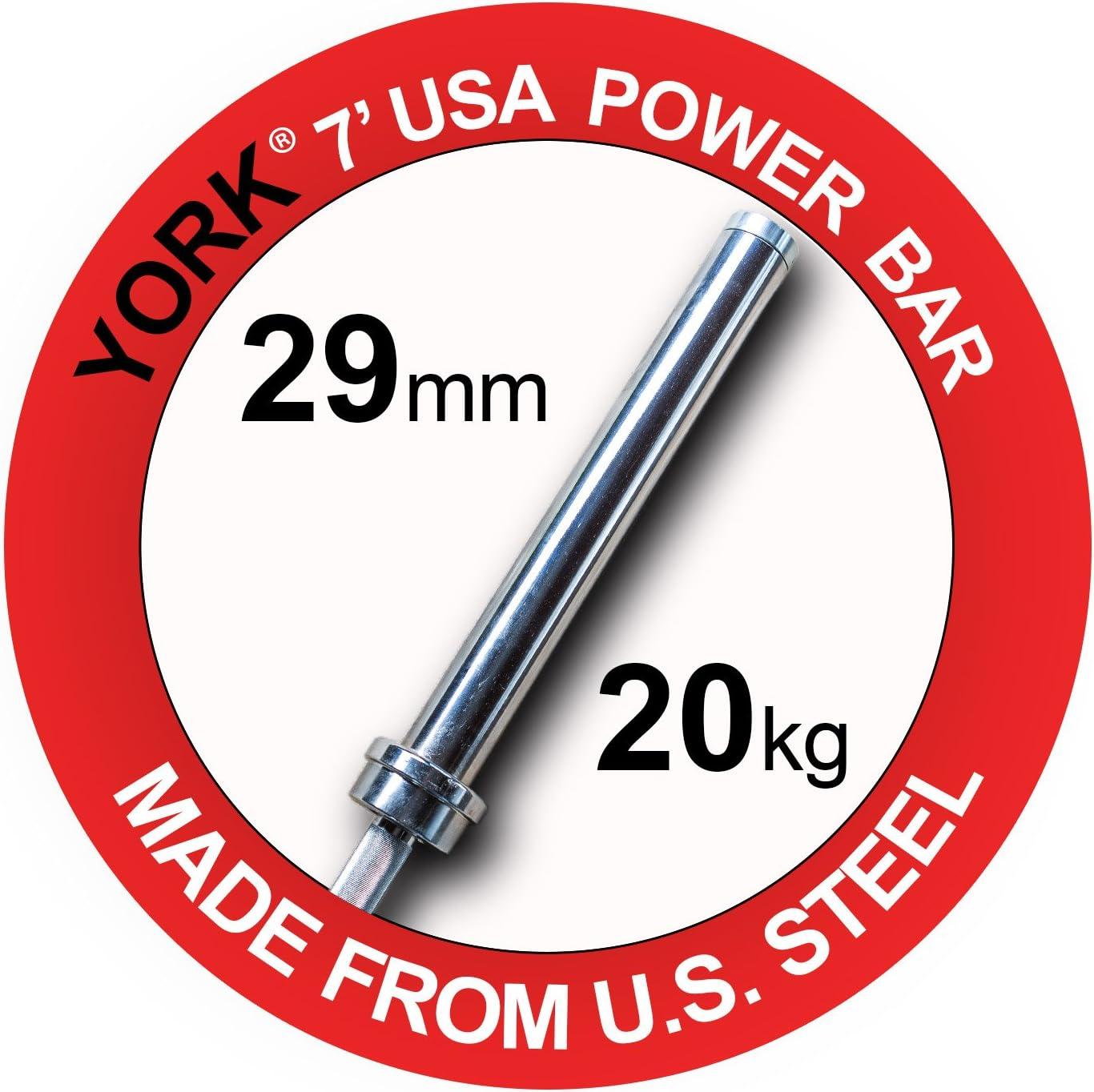 Yorkオリンピック7 '電源バーNorth American Madeオリンピックトレーニングバー