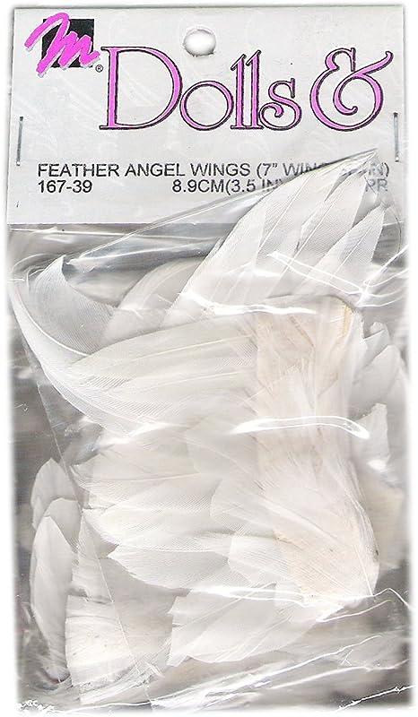 """LOT 4 Packs of 3 Vintage 1993 Mangelsen 2/"""" Puffy Gold Angel Wings 12 Wings Total"""