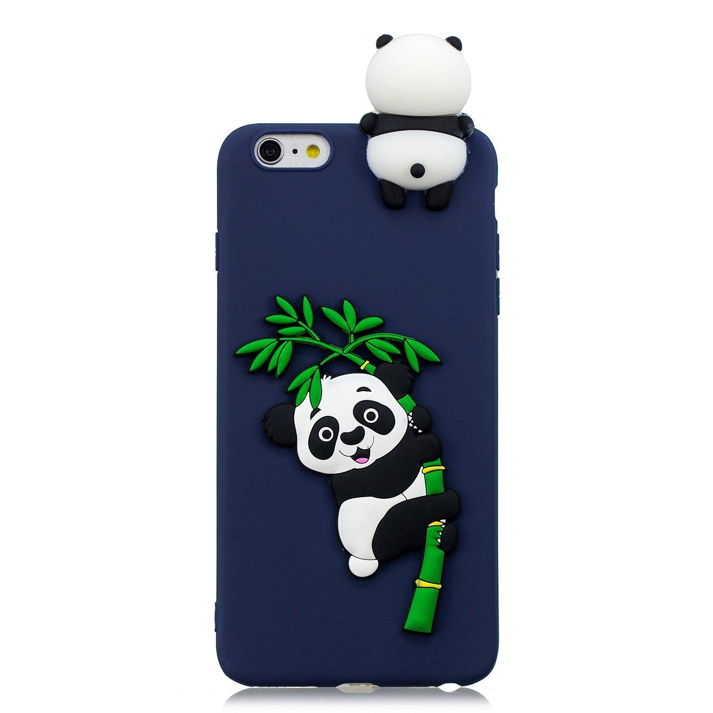 iPhone 6s Case Panda, iPhone 6 Silicone Case, FNBK 3D Dark Blue ...