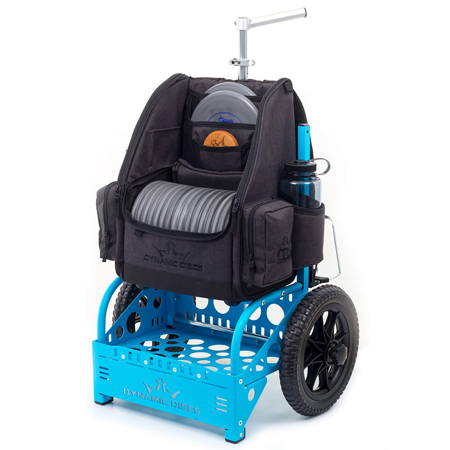 Dynamic Discs EZ Cart by ZÜCA – With Expanded Capacity to Accommodate Even The Largest Disc Golf Backpacks (Matte Blue)