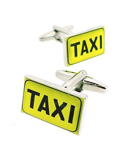 Gemelos para Camisa Cartel Luminoso de Taxi: Amazon.es: Joyería