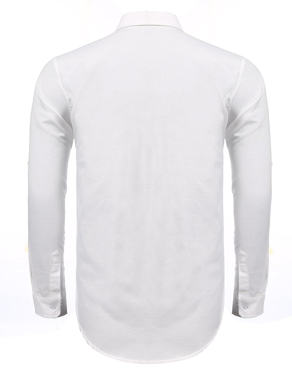 Jinidu Mens Classic Fit Long-Sleeve Premium Organic Polo Shirt