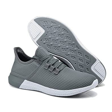 UNN Men Casual Shoes Athletic Sneakers Women Lightweight Go Easy Walking  Comfort Mesh Soft Sole Lace 96f26f0e635