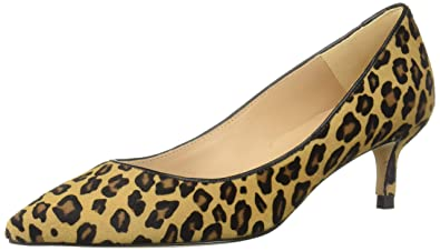 e6e69bf25ba L.K. Bennett Women s Audrey Haircalf Leopard Print Pointed Toe Kitten Heel  Court Shoes Pump