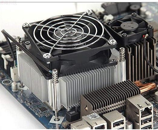 Chengleilei Aluminio CPU Ventilador Ultra silencioso CPU radiador ...