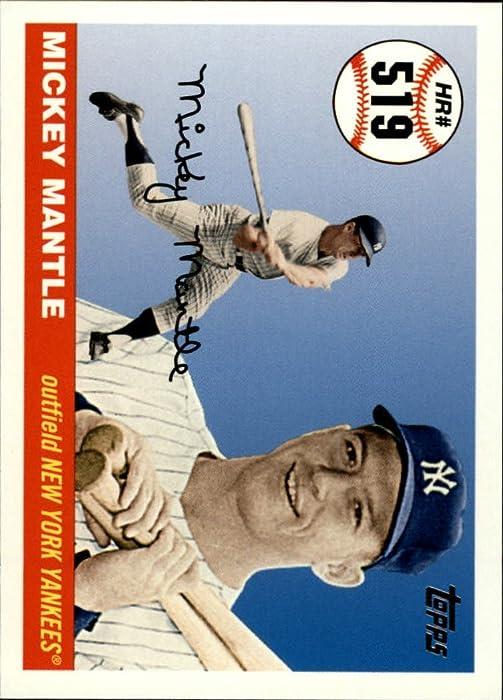 Top 10 2006 Topps Mantle Home Run History Baseball Card