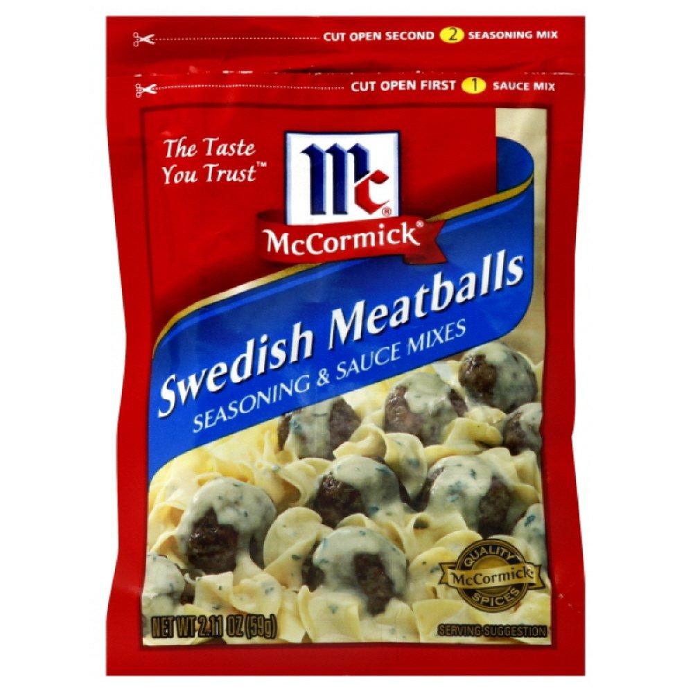 McCormick Meatballs, Swedish, 2.1100-ounces (Pack of6)